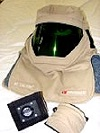 American Safety Clothing Mfg 12 Cal Arc Flashl Hood with Dual cooling Fans