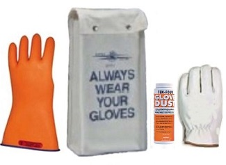 Class%2000%20Rubber%20Insulating%20Glove%20Kit%20Type%20II%20Orange%2FBlue